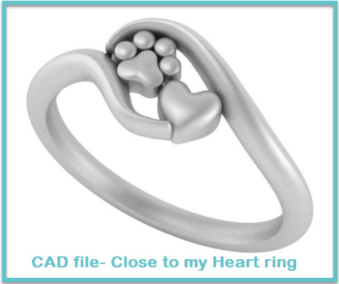 CAD File Close to my Heart Ring