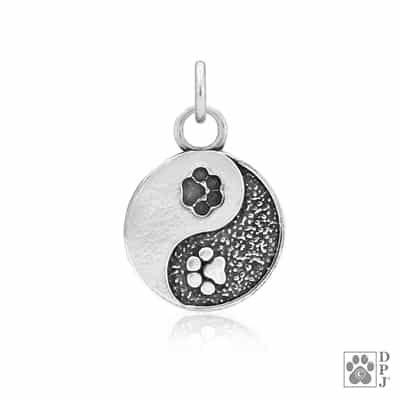 1ce477240e40 Pet rescue jewelry, Yin and Yang paw print jewelry, Ying and yang ...