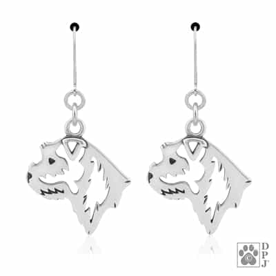 Airedale Terrier Tiny One Dog Head Post Earrings Jewelry